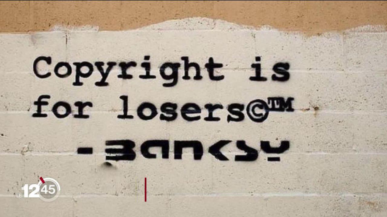 Banksy à l'honneur à Bâle. Une centaine d'œuvres originales du mystérieux artiste sont à découvrir au centre des Congrès. [RTS]