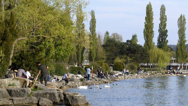 Bienne veut se développer en direction du lac. [Anthony Anex - KEYSTONE]