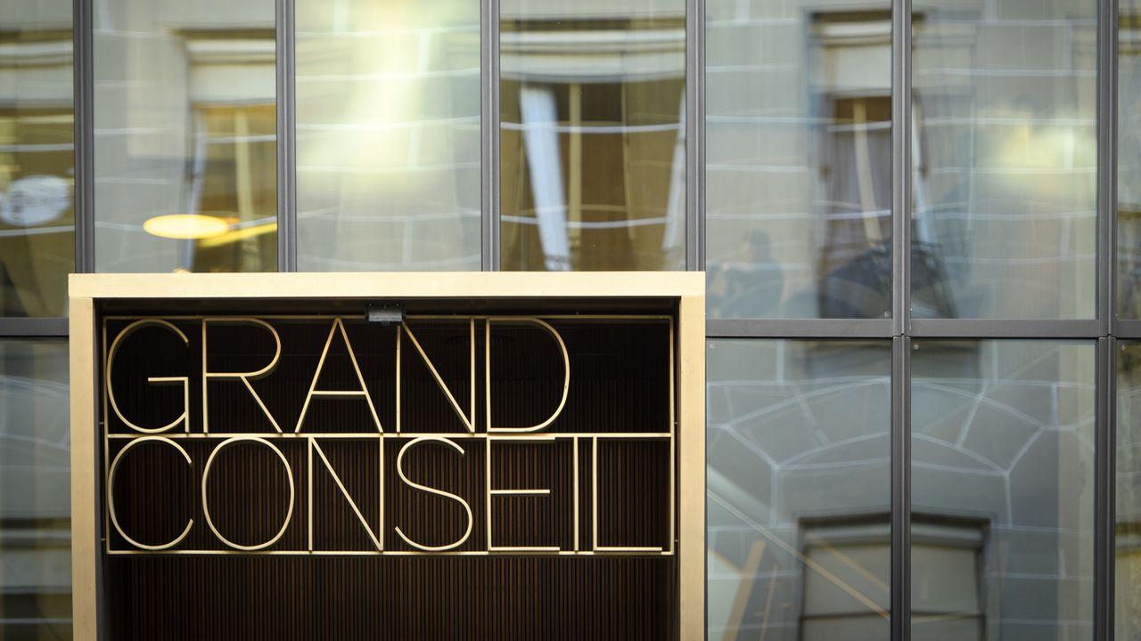 L'entrée du Grand Conseil vaudois, à Lausanne.  [LAURENT GILLIERON - KEYSTONE]