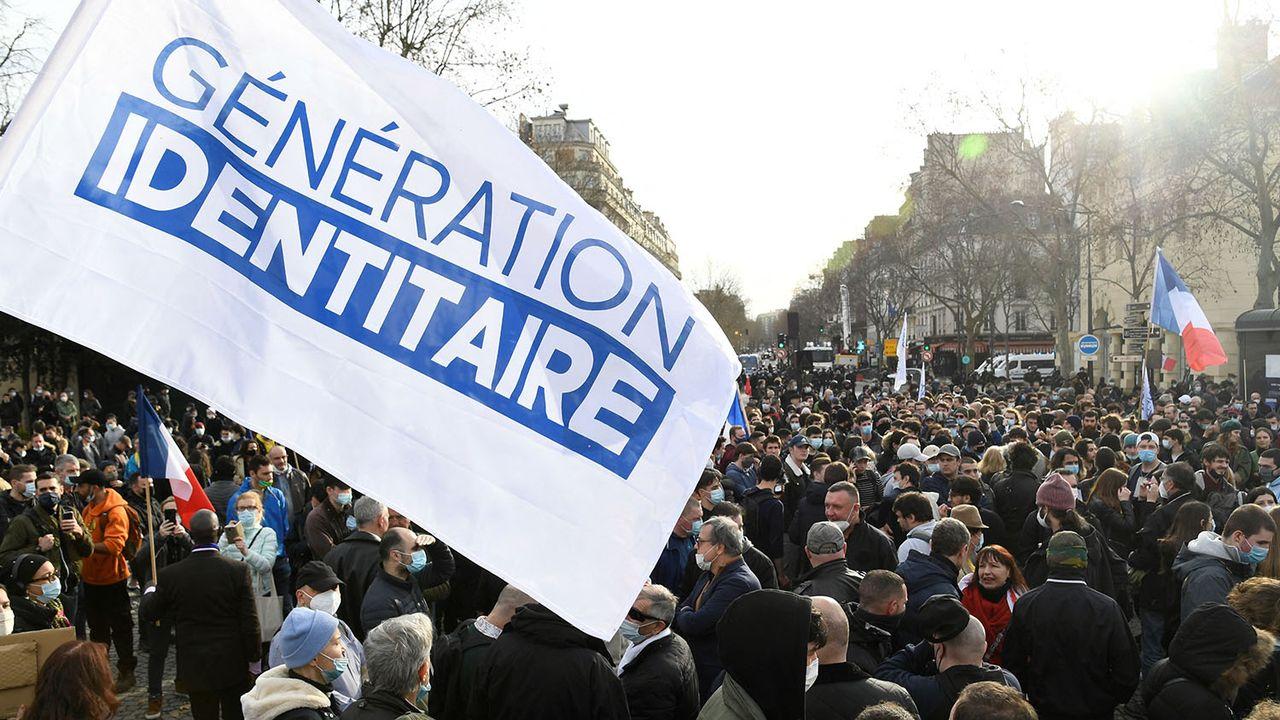 Manifestation de membres et soutiens du groupe d'extrême droite à Paris, 20.02.2021. [Bertrand Guay - AFP]