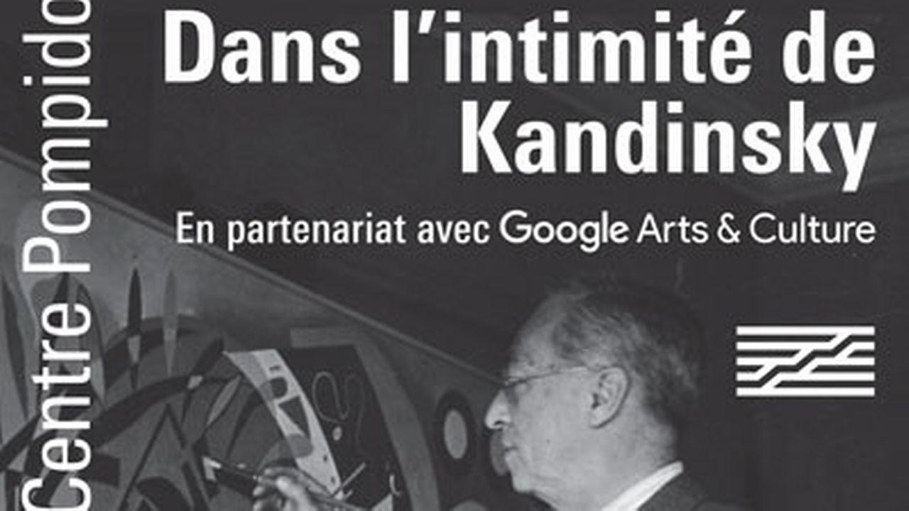 """L'affiche de l'exposition virtuelle """"Dans l'intimité de Kandinsky"""" proposée par le Centre Pompidou en collaboration avec Google Arts & Culture (2021). [Centre Pompidou / Google Arts & Culture (2021)]"""