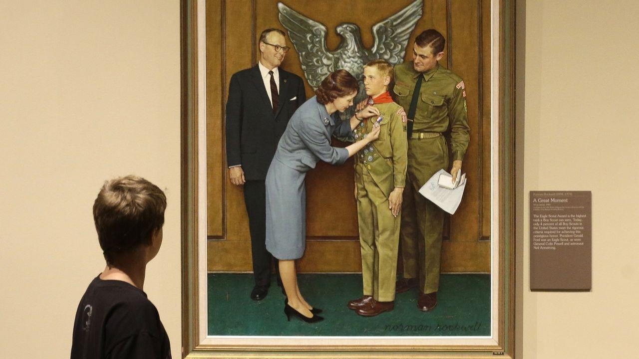 Le célèbre illustrateur new-yorkais a longtemps collaboré avec l'organisation des Boy Scouts of America. [Rick Bowmer - Keystone]