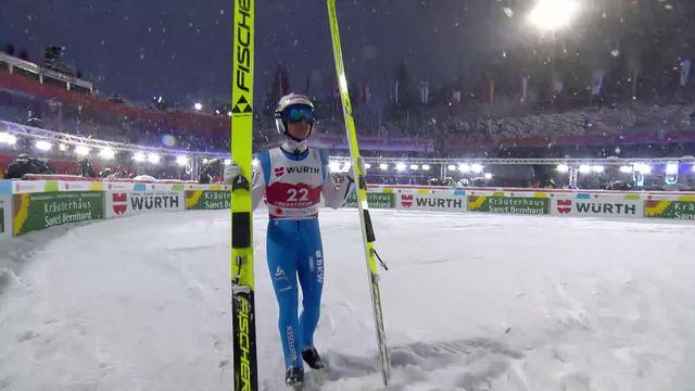 Oberstdorf (GER), grand tremplin messieurs: un saut décevant de Simon Ammann (SUI) [RTS]