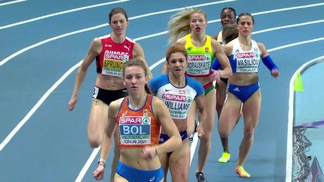400m dames, demi-finale: Léa Sprunger (SUI) est déjà éliminée, elle ne défendra pas son titre en finale [RTS]