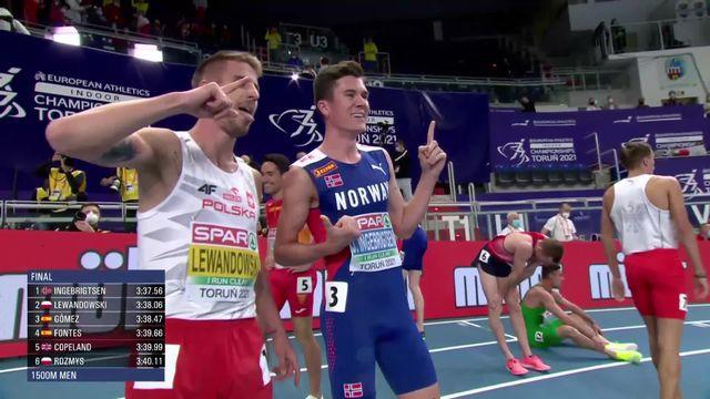 1500m messieurs, finale: intouchable, Ingebrigsten (NOR) est sacré champion d'Europe [RTS]
