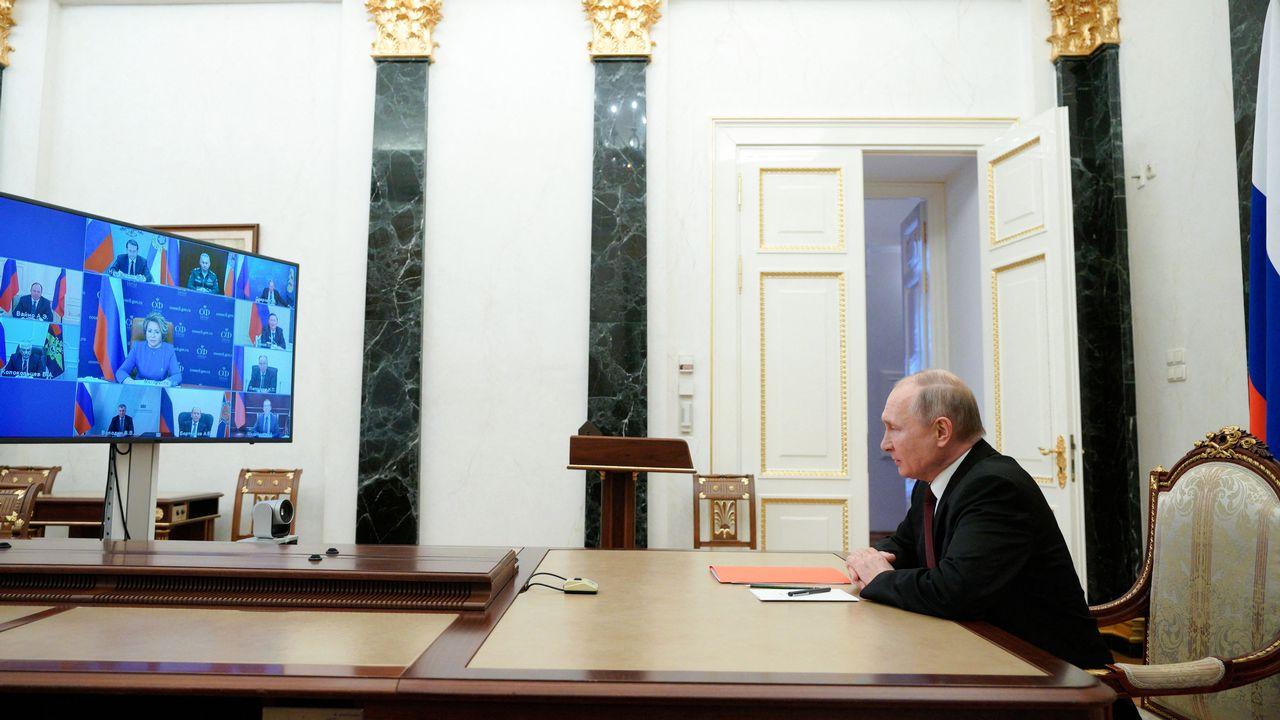 """La Chine et la Russie ont bloqué vendredi soir l'adoption d'une déclaration du Conseil de sécurité de l'ONU demandant la """"fin des violences"""" au Tigré en Ethiopie.  [Alexei Druzhinin - AFP]"""