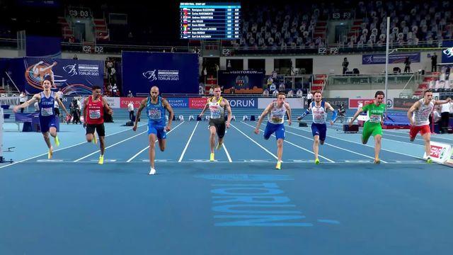 60m messieurs, finale: Jacobs (ITA) victorieux sur le 60m [RTS]