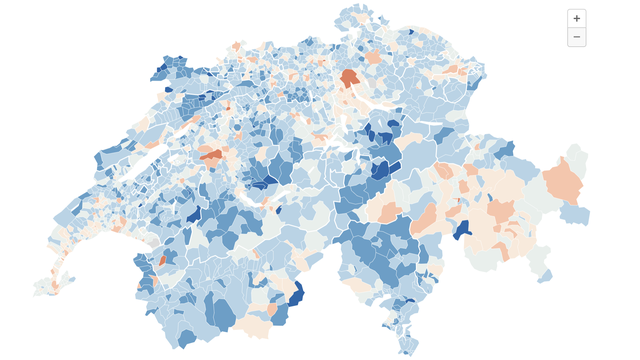 Les cartes des résultats par commune.