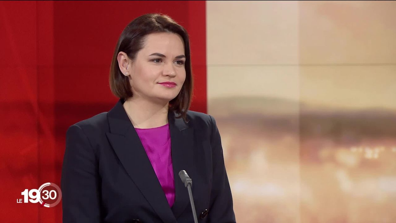 L'interview de l'opposante biélorusse Svetlana Tikhanovskaïa. [RTS]