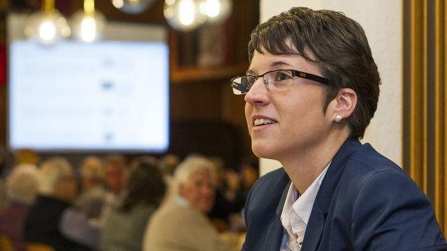 Virginie Heyer, présidente du Conseil du Jura bernois, maire de Perrefitte et députée au Grand Conseil bernois. [Aline Staub - Keystone]