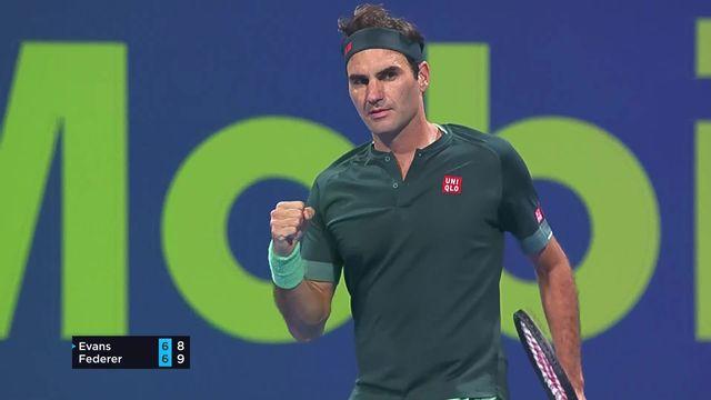 1-8, R. Federer (SUI) - D. Evans (GBR) (7-6, 3-6, 7-5): Federer s'impose pour son retour ! [RTS]