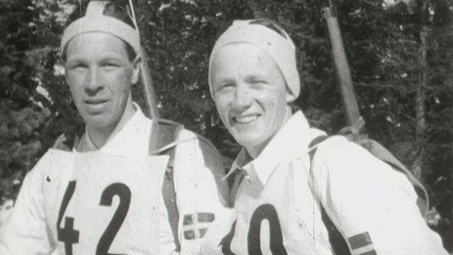 Le championnat de ski militaire à Andermatt en 1954 [RTS]