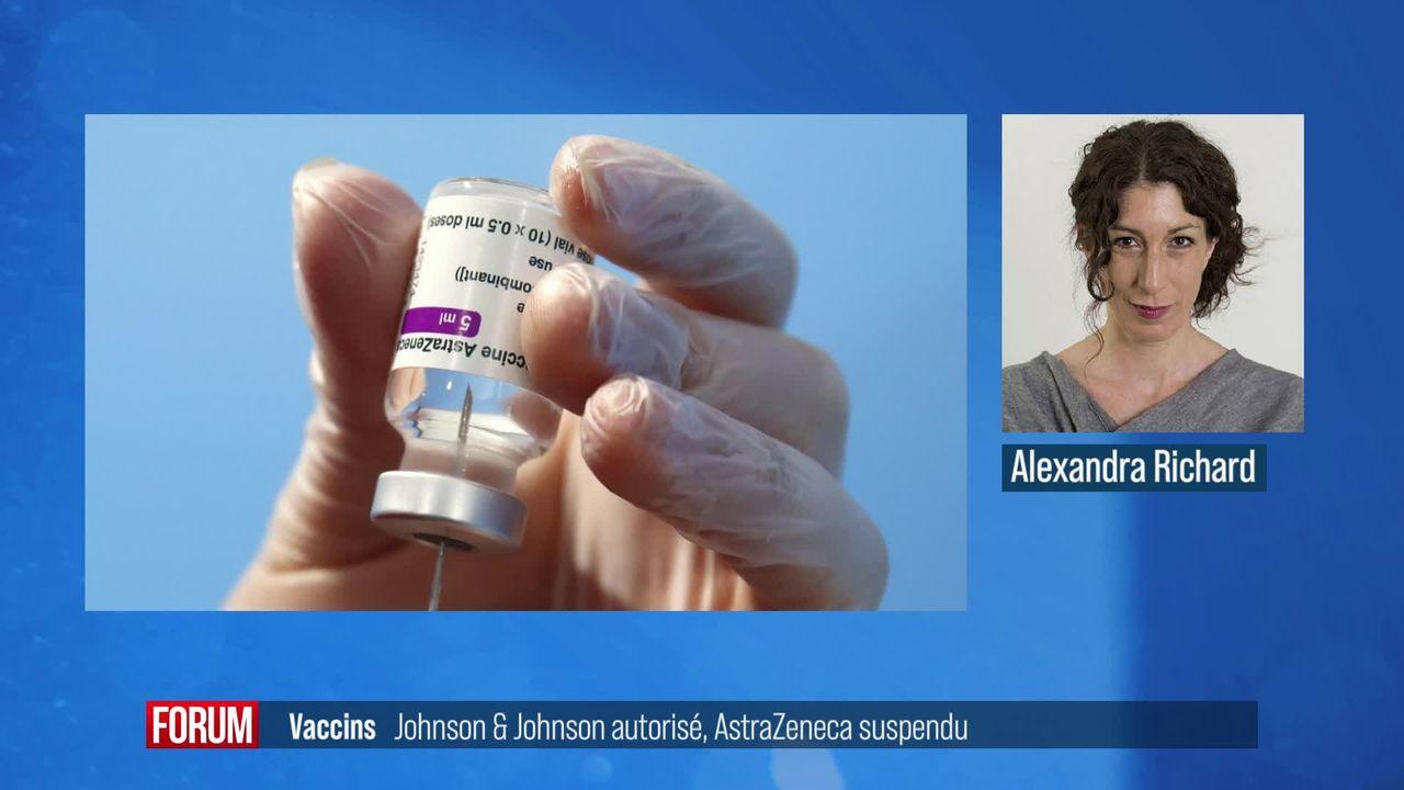 Le vaccin Johnson & Johnson est autorisé en Europe, celui d'AstraZeneca suspendu dans plusieurs pays [RTS]
