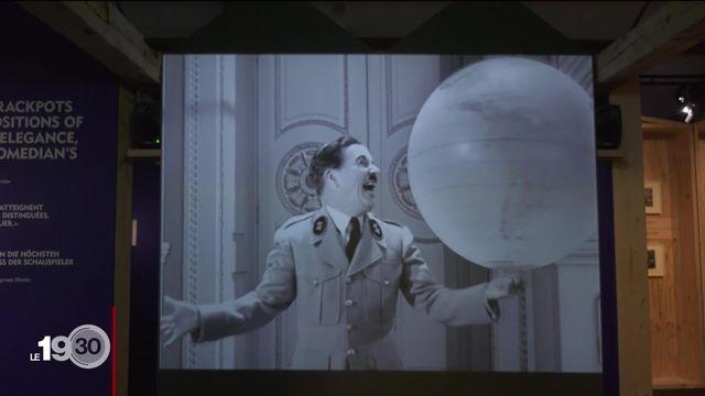 Une exposition au musée Chaplin à Corsier-sur-Vevey commémore les 80 ans du Dictateur. [RTS]