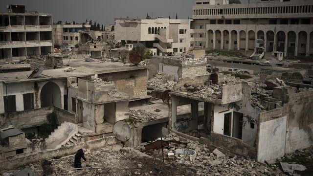 La Ville d'Idlib en mars 2020. [Felipe Dana - AP Photo/Keystone]
