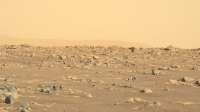 Vue de Mars prise par l'astromobile Perserverance le 21 février 2021. [EPA/NASA/JPL-Caltech - kEYSTONE]