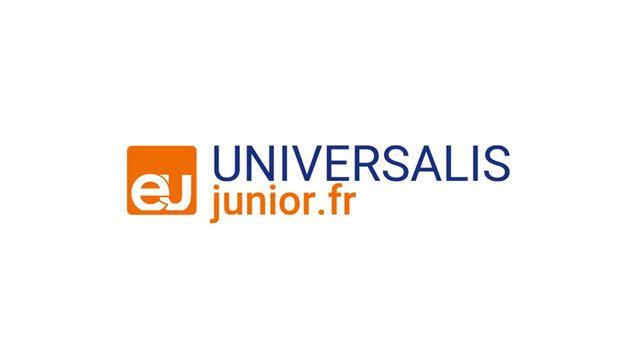 Le logo de l'encyclopédie en ligne Universalis Junior. [junior.universalis.fr - Encyclopaedia Universalis]