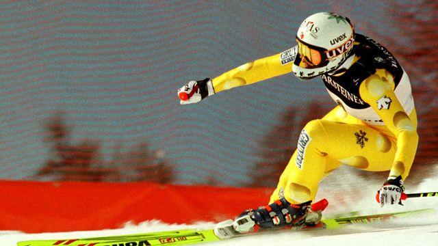 Heidi Zurbriggen en action lors de la descente de Cortina 1998. [Reuters]