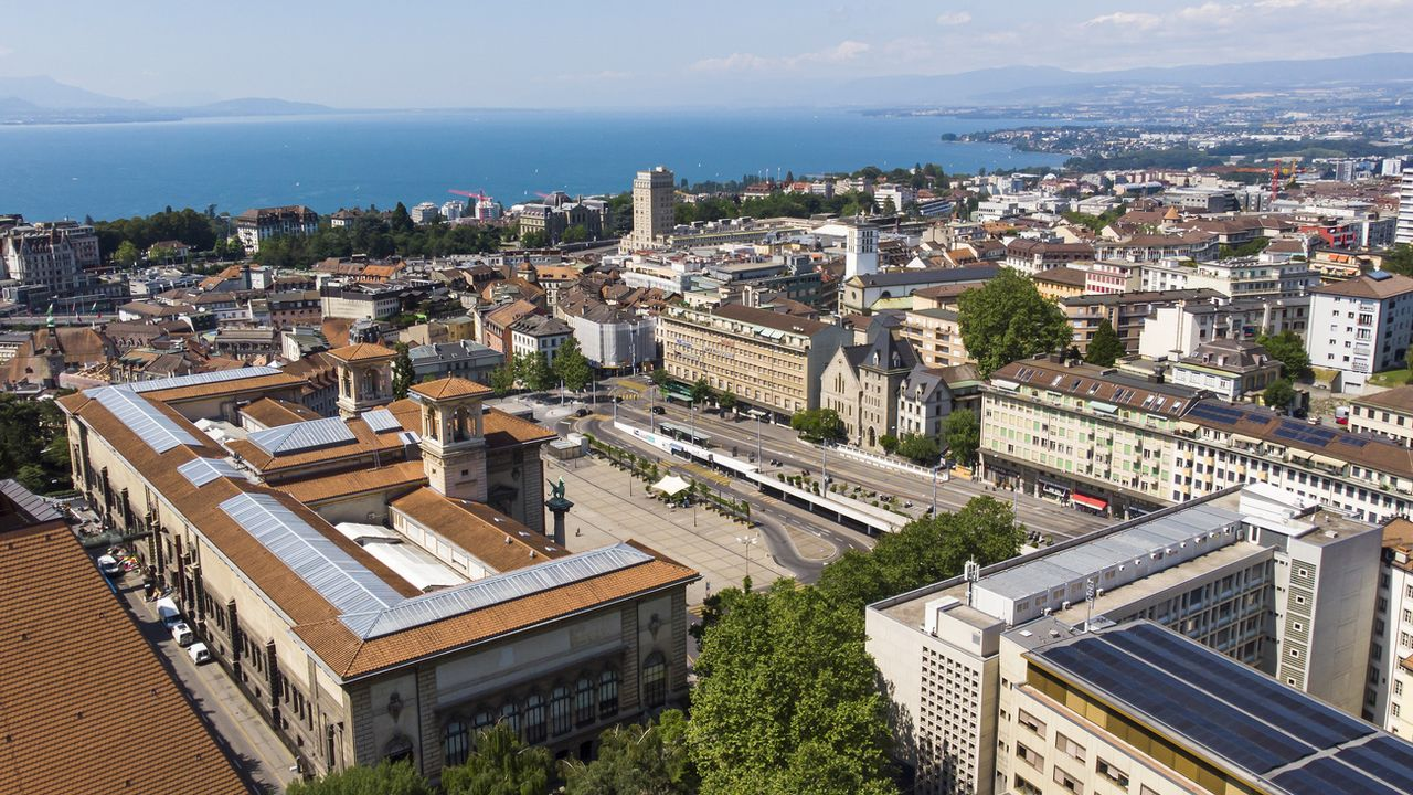 Vue de la ville de Lausanne.  [LEANDRE DUGGAN - KEYSTONE]