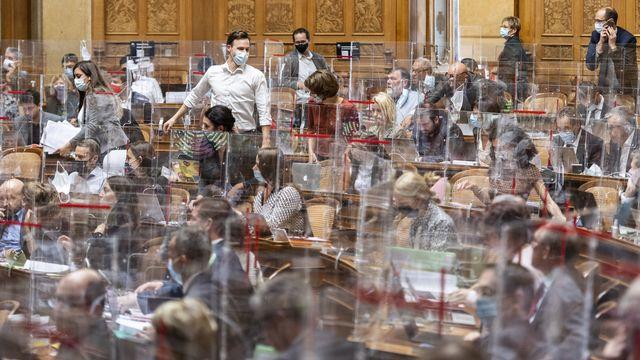 Le Parlement suisse en session à Berne. [Alessandro della Valle - KEYSTONE]