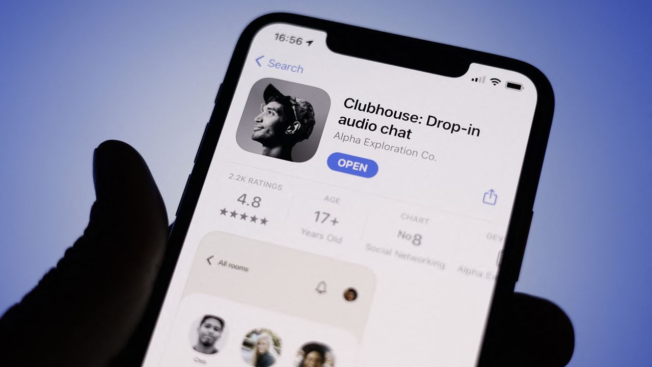 Clubhouse, le nouveau réseau social 100% audio. [Jaap Arriens - NurPhoto via AFP]