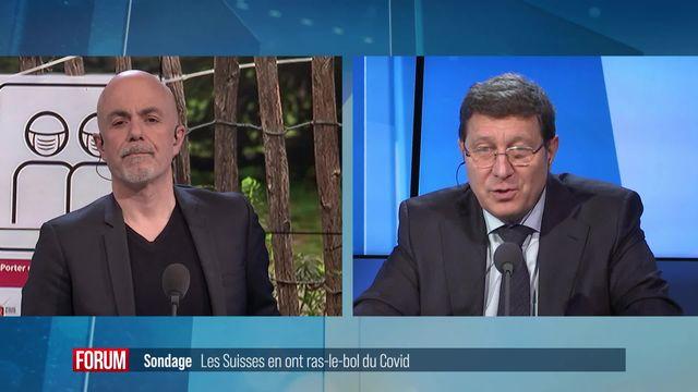 La situation économique inquiète la population suisse en raison des mesures liées au Covid-19: réaction de Mauro Poggia [RTS]