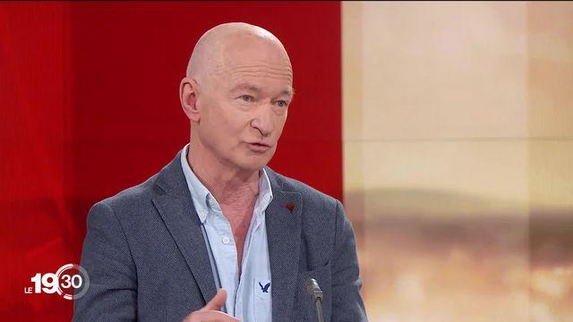 Le virologue de l'EPFL Didier Trono sur les mesures suisses liées au coronavirus. [RTS]