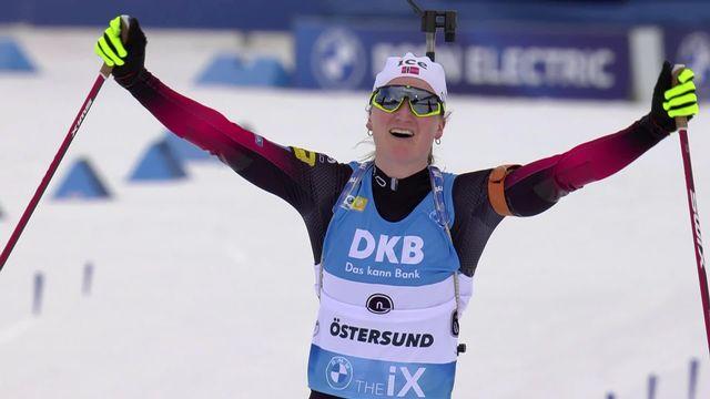Oestersund (SWE), poursuite dames: victoire de Marte Olsbu Roeiseland (NOR) [RTS]