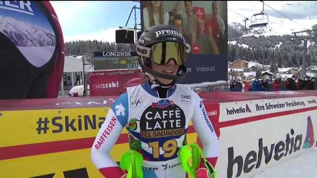 Lenzerheide (SUI), finales slalom dames: Camille Rast (SUI) [RTS]