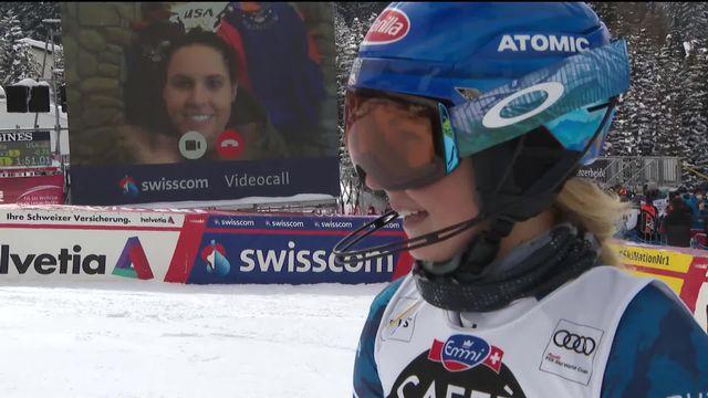 Lenzerheide (SUI), finales slalom dames: Mikaela Shiffrin (USA) [RTS]