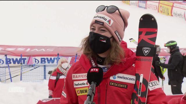 Lenzerheide (SUI), finales slalom dames: interview de Michelle Gisin (SUI) après sa belle 3e place [RTS]