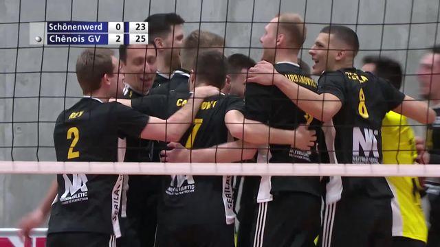 ½ finale messieurs, match 1: Schönenwerd - Chênois (19-25, 20-25, 23-25): les Genevois l'emportent en 3 sets [RTS]