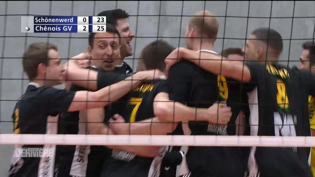 Volley, Playoffs: Schönenwerd - Chênois (19-25, 20-25, 23-25) [RTS]