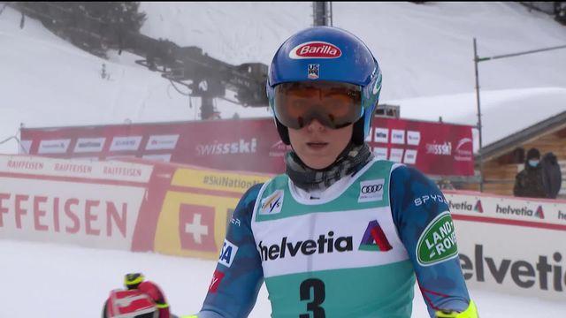 Lenzerheide (SUI), géant dames, 1re manche: Mikaela Shiffrin (USA) domine la manche [RTS]