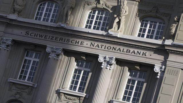 La BNS a mis à disposition des banques commerciales des montants élevés en 2020. [Peter Klaunzer - Keystone]