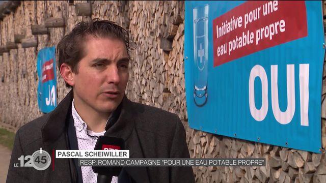 """Votation du 13 juin: lancement de la campagne en faveur de l'initiative """"pour une eau potable propre"""" [RTS]"""