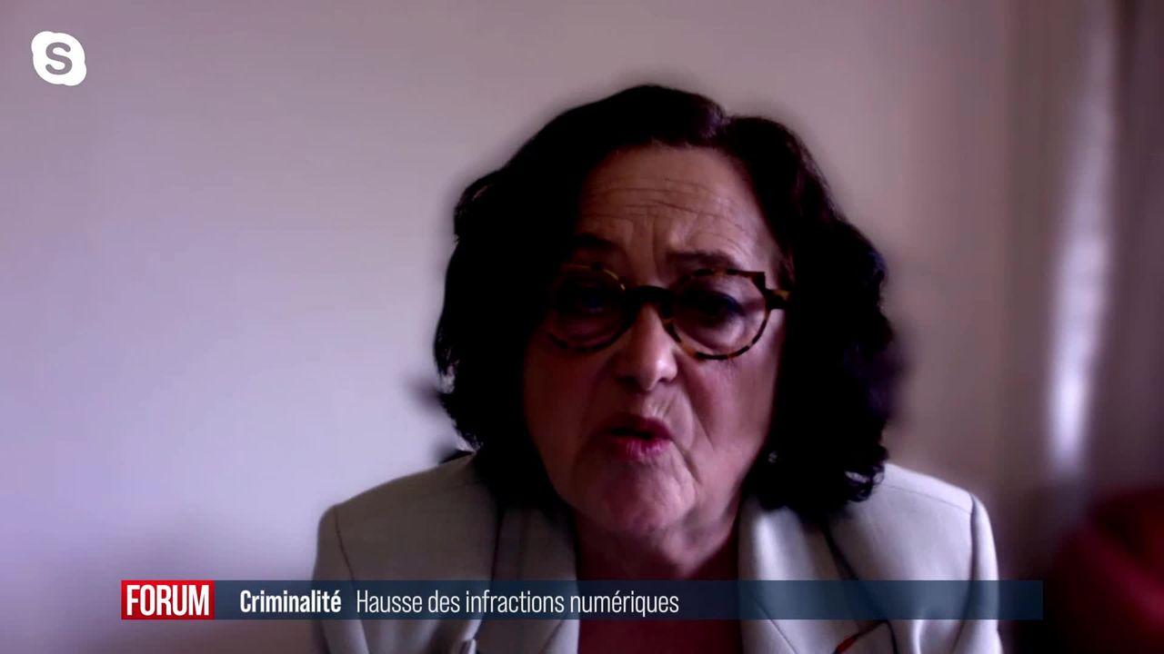 Hausse des infractions numériques en Suisse en 2020: interview de Solange Ghernaouti [RTS]
