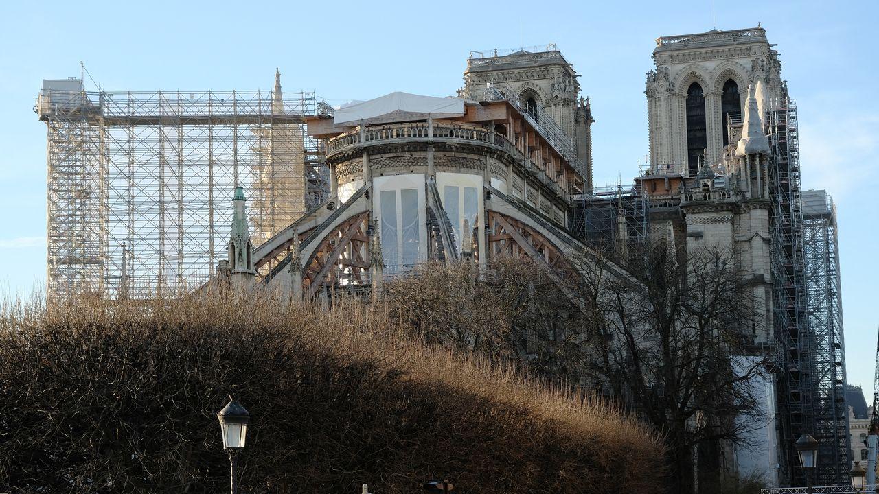 La restauration de la cathédrale Notre-Dame de Paris. IMAGE POINT FR/LPN/BSIP AFP [IMAGE POINT FR/LPN/BSIP - AFP]