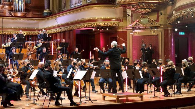 L'Orchestre de la Suisse romande au Victoria Hall. [Marie Ernst - OSR - DR]