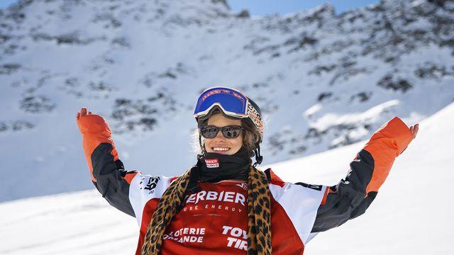 Elisabeth Gerritzen, championne du Freeride World Tour 2021. [Valentin Flauraud - Keystone]