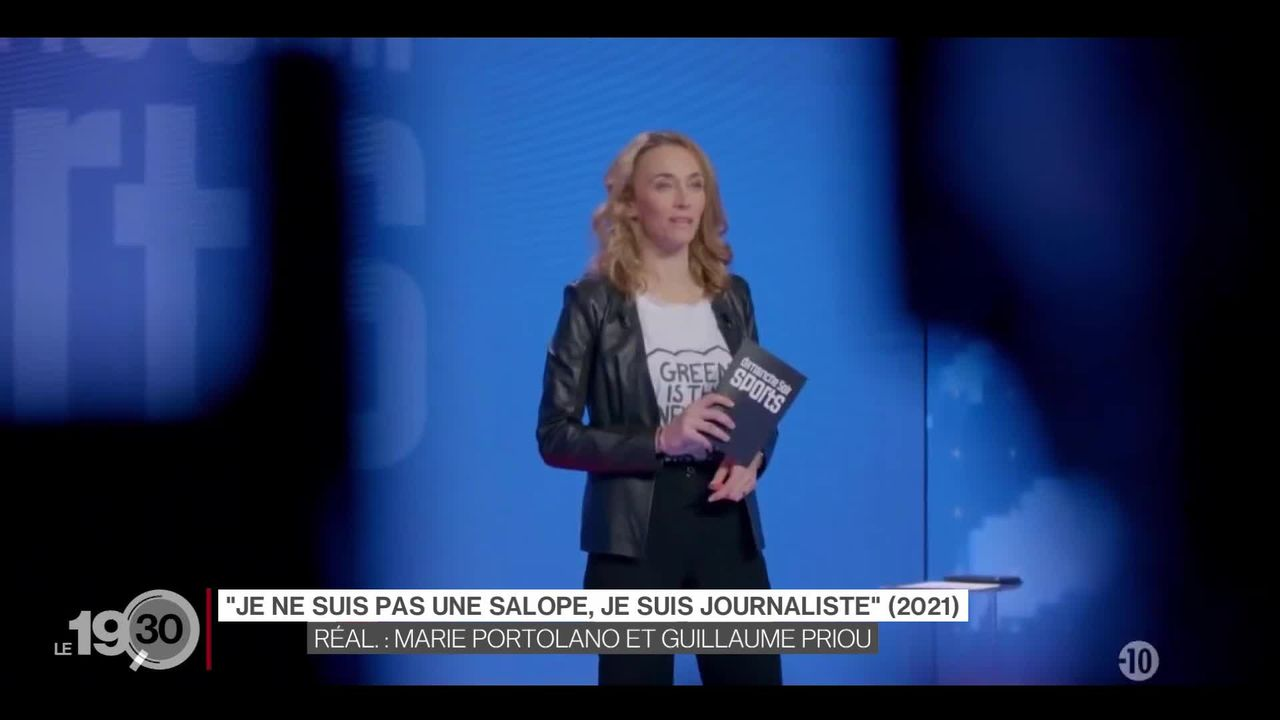 Le documentaire réalisé par Marie Portolano sur le sexisme dans le journalisme sportif fait des vagues en Suisse. [RTS]