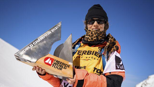 Elisabeth Gerritzen championne du monde du FWT 2021 et première skieuse à remporter 2 fois l'Xtreme de Verbier. [Valentin Flauraud - Keystone]