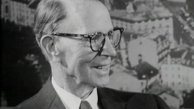L'ingénieur américain d'origine suisse Othmar Ammann en 1964. [RTS]