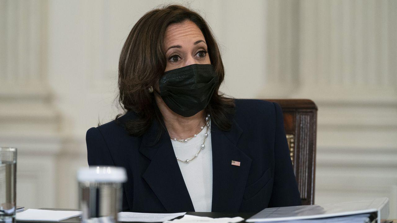 Kamala Harris lors de la réunion à la Maison Blanche, 24.03.2021. [Evan Vucci - AP/Keystone]