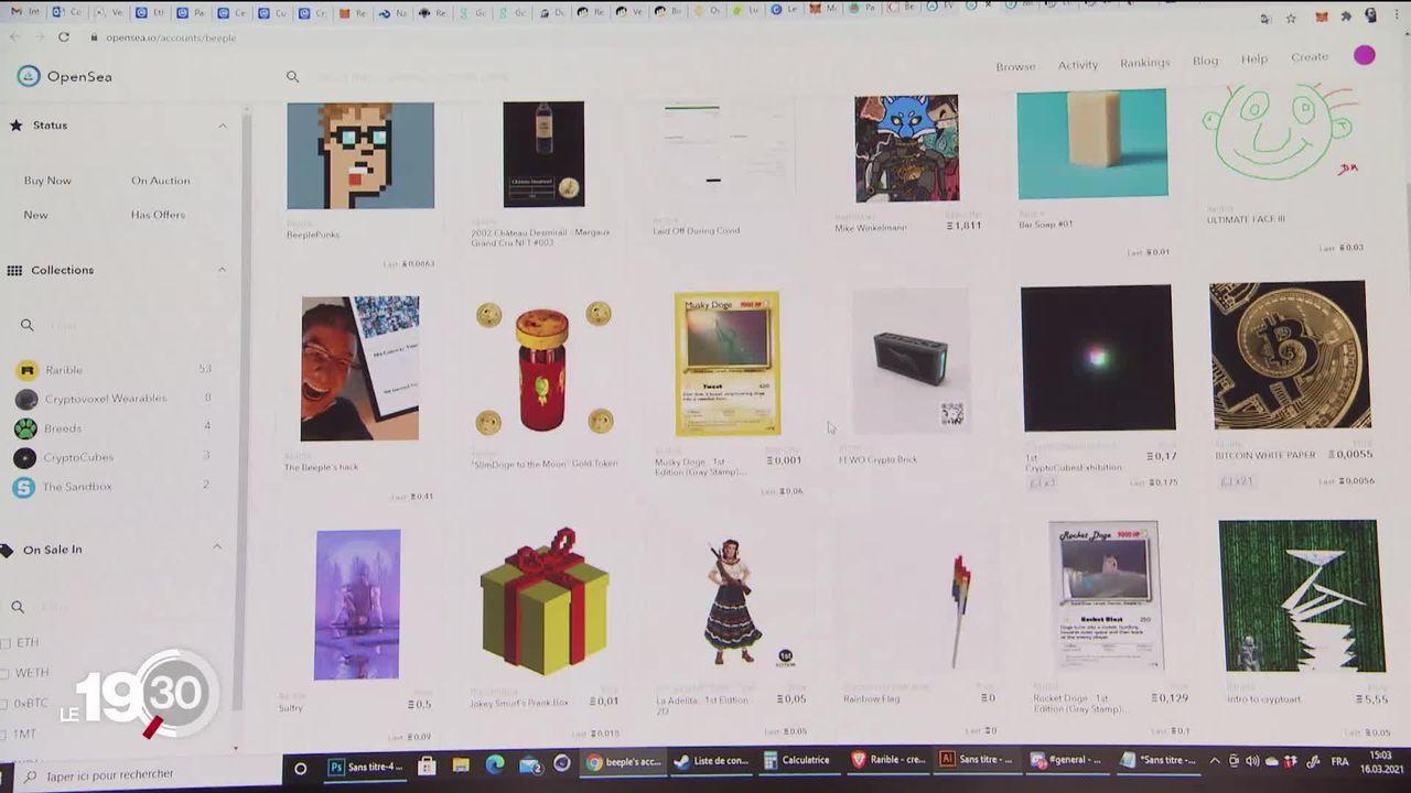 Les oeuvres d'art entièrement virtuelles chamboulent le marché et génèrent une fièvre spéculative. [RTS]
