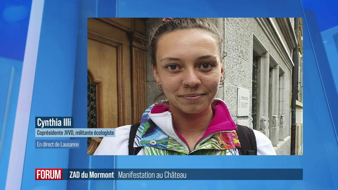 Les militants de la colline du Mormont ont été soutenus par une manifestation à Lausanne (vidéo) [RTS]