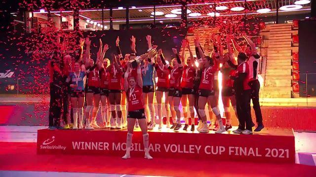 Finale dames: Neuchâtel UC – kanti Schaffhouse (23-25, 25-22, 25-23, 13-25, 13-15 ): les Schaffhousoises victorieuses en 5 sets [RTS]
