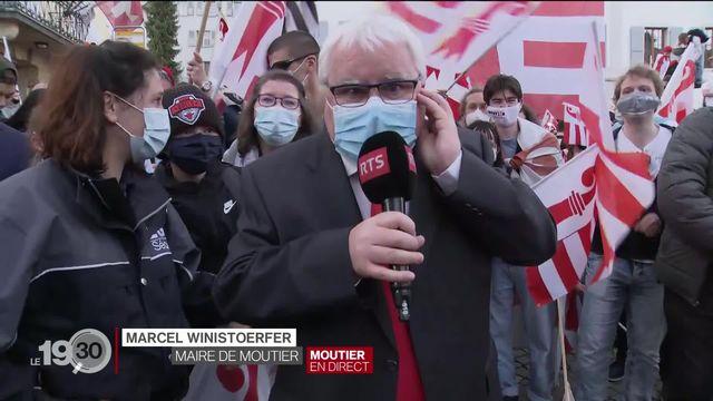 Le commentaire de Marcel Winistoerfer, maire de la ville de Moutier [RTS]