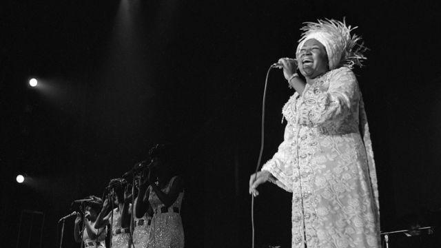 La chanteuse américaine Aretha Franklin le 13 juin 1969 à Las Vegas (USA). [Keystone]