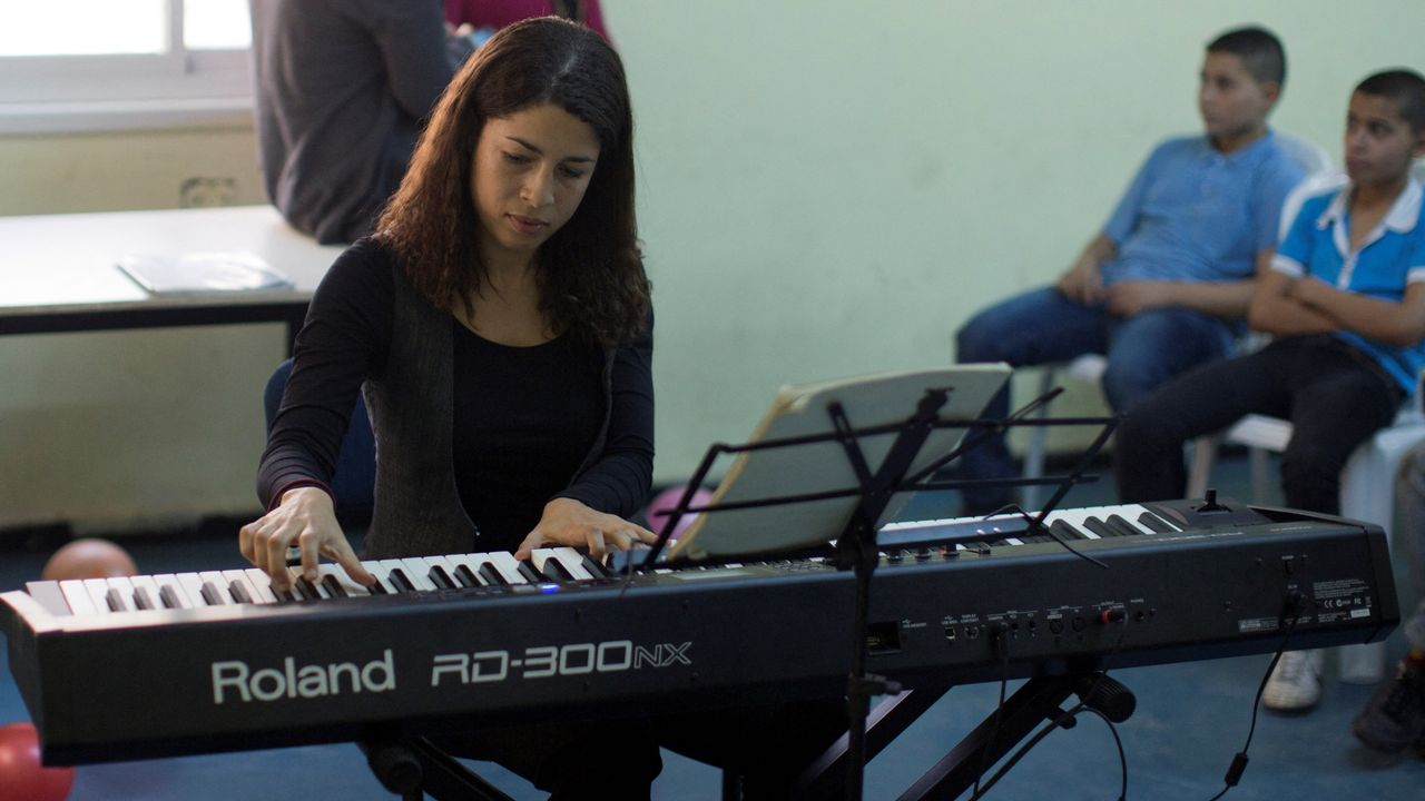 La pianiste Célimène Daudet. [AHMAD GHARABLI - AFP]